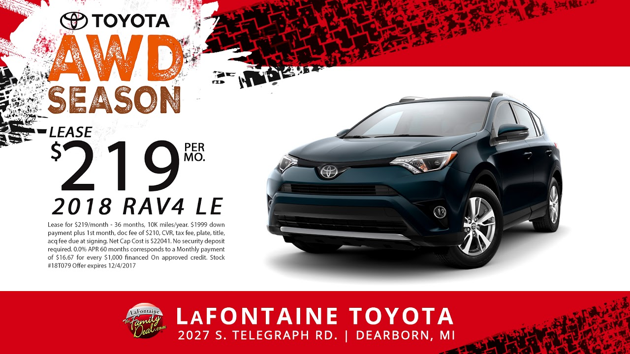 Lafontaine Toyota Dearborn Black Friday All Month Long 2018 Rav4