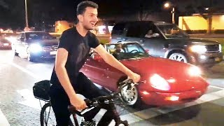 Tracksuit Andy Electric Bike vs Sports Car & Electric Scooter