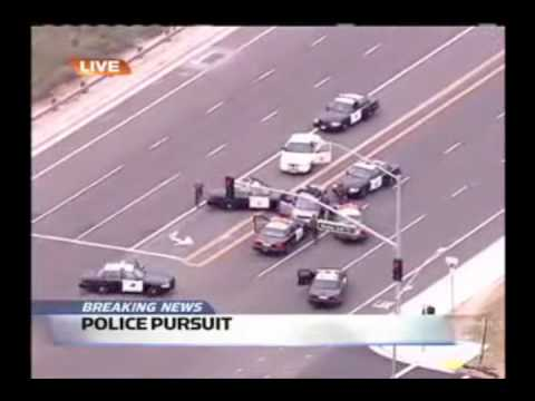 Orange County Police Car Chase - Benny Hill Themed