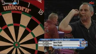 2017 German Darts Open Round 1 Roith vs Woods