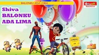 LAGU ANAK BALONKU ADA LIMA | SHIVA ANTV, SPIDERMAN, SPONGEBOB