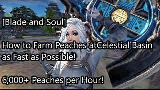 [Blade and Soul] Fastest Way to Farm Peaches in Celestial Basin! 6,000+ Peaches an Hour!