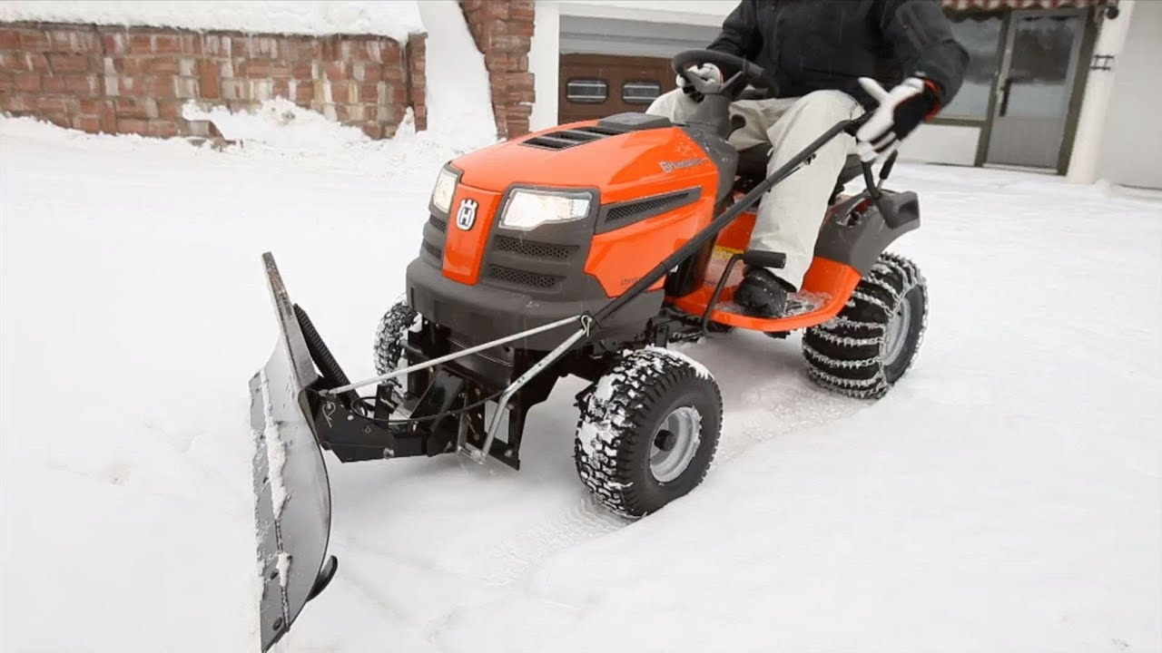 Husqvarna tractors how to attach snow blade YouTube