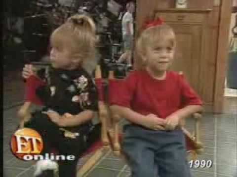 MaryKate And Ashley Olsen Behind The Scenes Of Full House