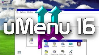 uMenu 16 - A Simple Shell Replacement for Windows 3.x (Overview & Demo)