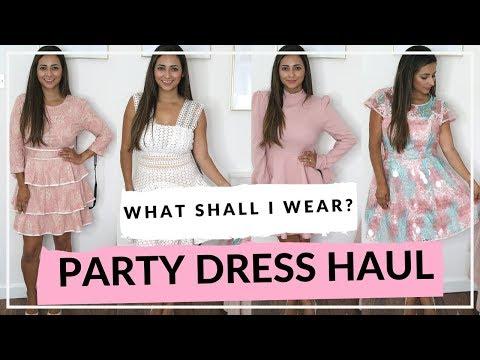 d17334fd7b8 PARTY WEAR DRESS TRY ON HAUL