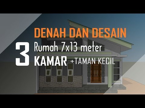 desain rumah minimalis ukuran 7x13