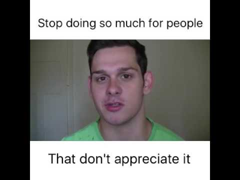 Stop doing so much for people - Daniel Amos