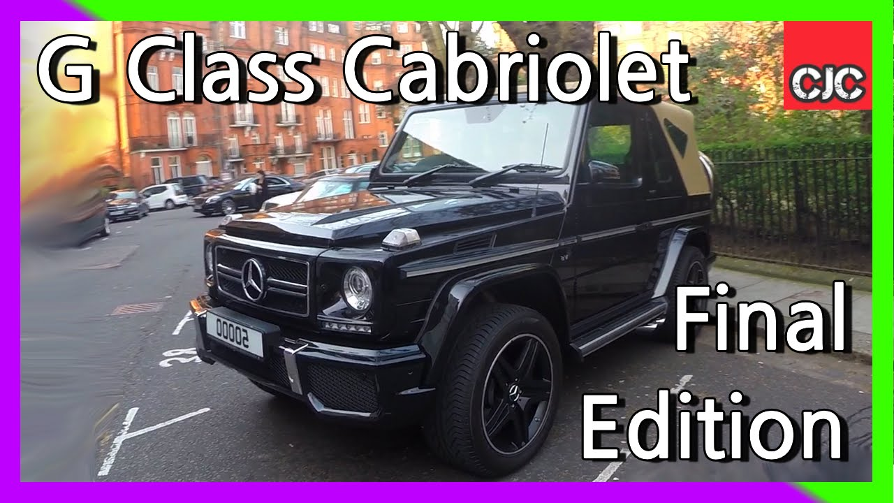 Mercedes g class coupe cabriolet final edition youtube for Mercedes benz g class cabriolet for sale