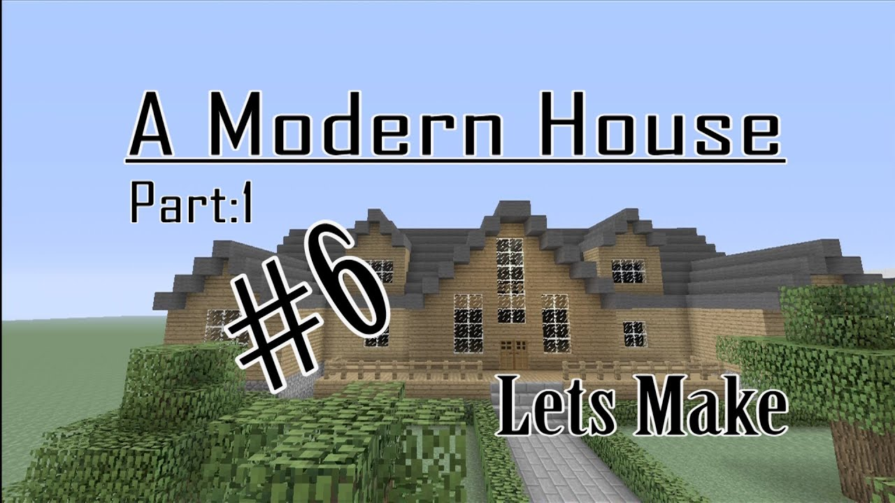 Minecraft lets make a modern cabin part 1 of 2 house for Modern house 6 part 2