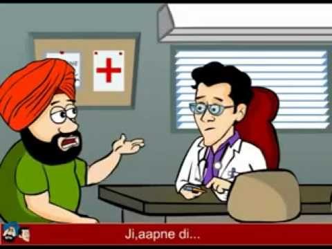 DOctor And Patient Funny Cartoon