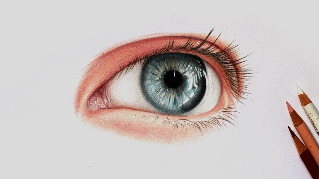 Como Desenhar Um Olho Realista Com Lapis De Cor 2 Youtube