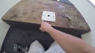 Modifying Casting Deck and Cutting Carpet - Aluminum Boat Project #6