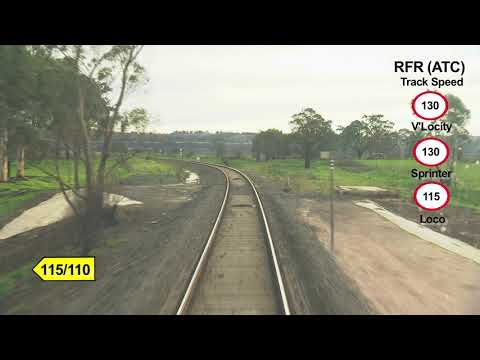 Drivers View: Traralgon Railway Station To Southern Cross Station