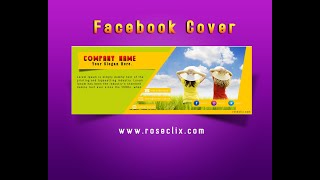 How to create Facebook cover Design in Adobe Photoshop | Facebook Cover Template