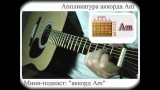 Как брать аккорд Am (видео-урок для начинающих гитаристов)