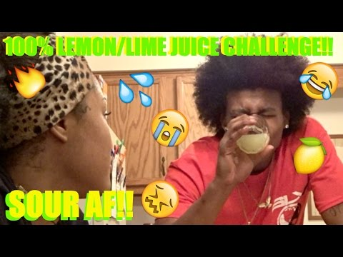 100% LEMON LIME EXTRACT JUICE CHALLENGE!!!!!