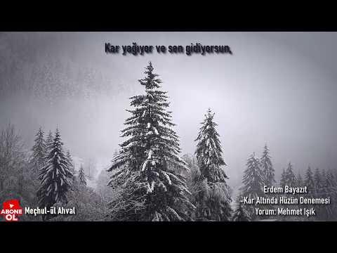Erdem Bayazıt  -Kar Altında Hüzün Denemesi Şiiri  Mehmet Işık 