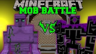 STARCONIUM GOLEM VS MUTANT ZOMBIE & ROBO POUNDER - Minecraft Mob Battles - Mods
