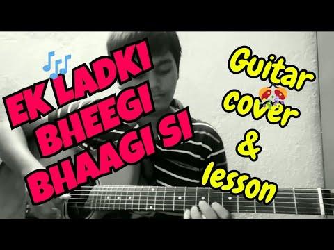 Ek Ladki Bheegi Bhaagi Si || Kishore Kumar || Old Hit Song || Guitar Cover || Easy Tutorial