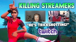 Killing Twitch Streamers #3 - Fortnite Battle Royale (with reactions)