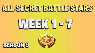 All secret battle stars week 1 to 7 - Fortnite Season 9