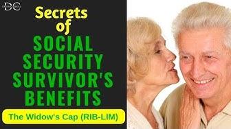 Secrets of Survivors Benefits: The Widows Cap