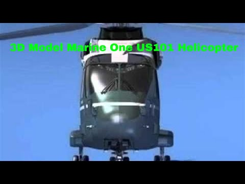 3D Model Marine One  US101 Helicopter