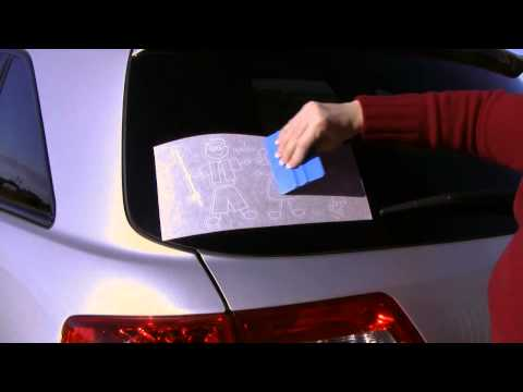 How To Put Family Stickers On A Car Window