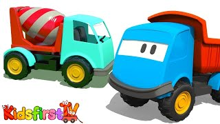 3D Machine Cartoons for Children 1: Leo the Truck builds a CEMENT MIXER! [грузовичок лева]