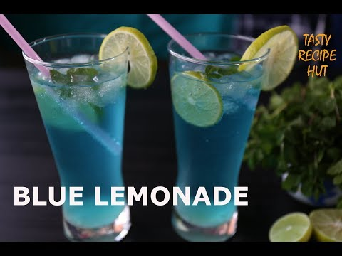 Blue Curacao Lemonade ! Instant Refreshing Summer Drink ! Blue Lagoon Mocktail !