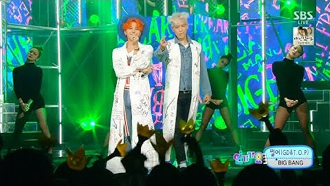 bigbanggdtop  zutter 0823 sbs inkigayo  lets not fall in love no1 of the week