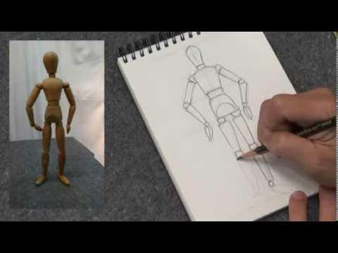 Artflu pencil drawing lesson 04 wooden figure