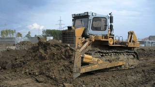 Old russian dozer tractor T-330