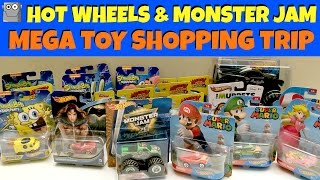 HOT WHEELS & MONSTER JAM Mega Toy Shopping Trip