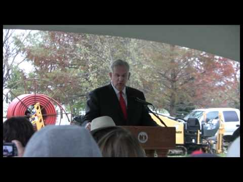 Gov. Jay Nixon's Speech — Fiber Groundbreaking Ceremony