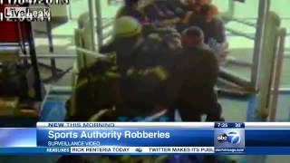 Sports Authority flash mob robbery caught on surveillance  video