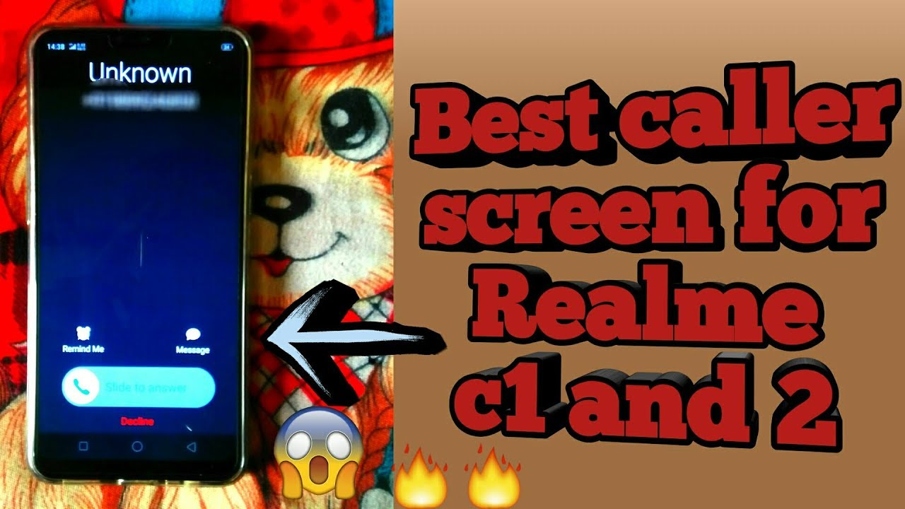 best caller screen for realme 2 , realme c1 caller screen change  realme 2  incoming call display, by All Information by PS