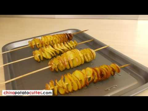 How to make a Spiral Potato Chip on a Stick potato tornado