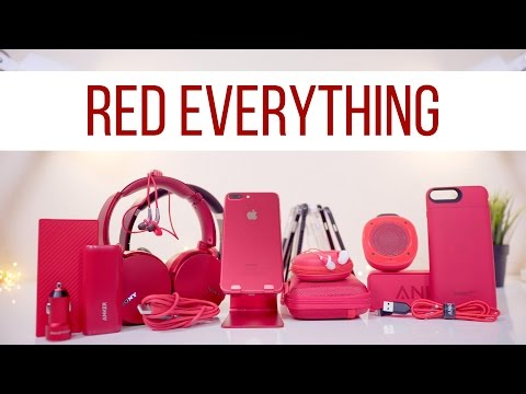 The ULTIMATE RED iPhone Setup!