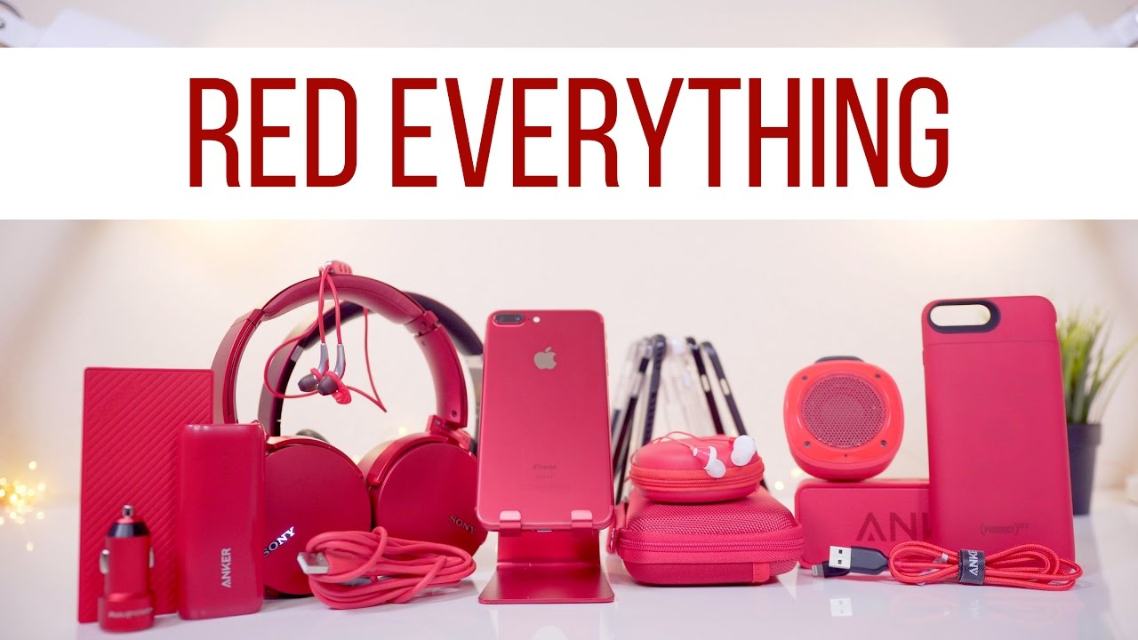 The ULTIMATE RED iPhone Setup! - YouTube