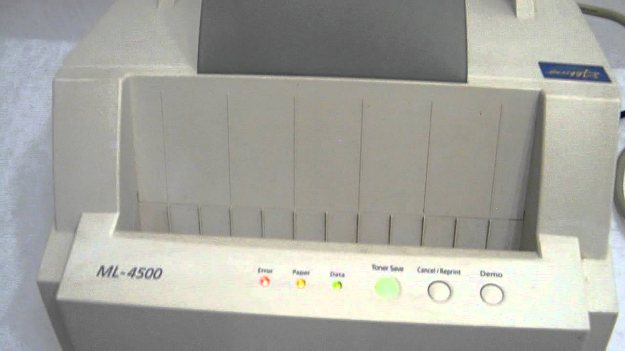 SAMSUNG ML-4500 PRINTER PPC WINDOWS 10 DOWNLOAD DRIVER