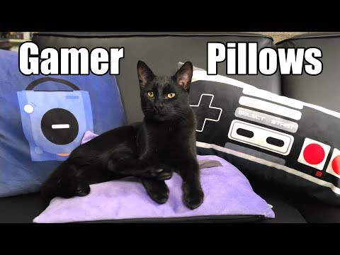 Gamer Pillows - Perfect for Game Rooms, Gifts & Kittens