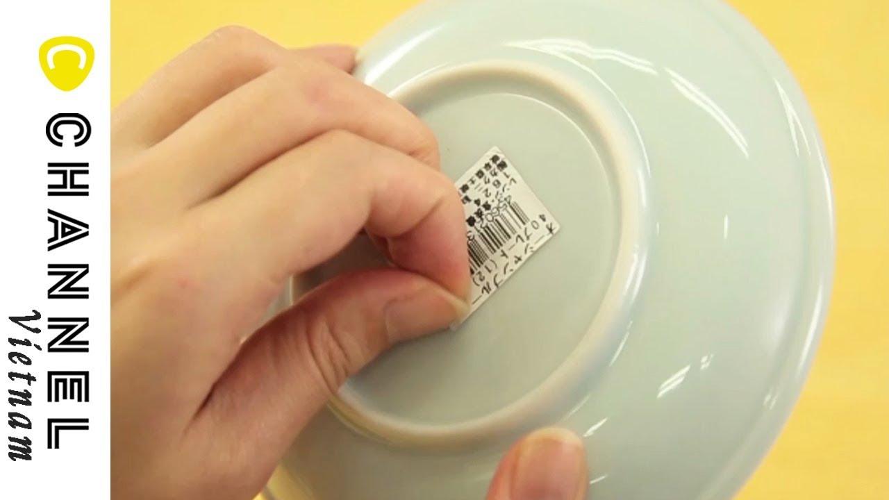 2 cách gỡ sạch nhãn tem hàng hoá trên đồ dùng