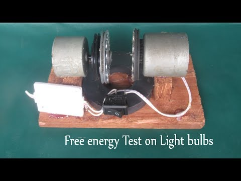 Free energy idea Test on light bulbs 2018 - How to make device free energy with motor & magnets easy