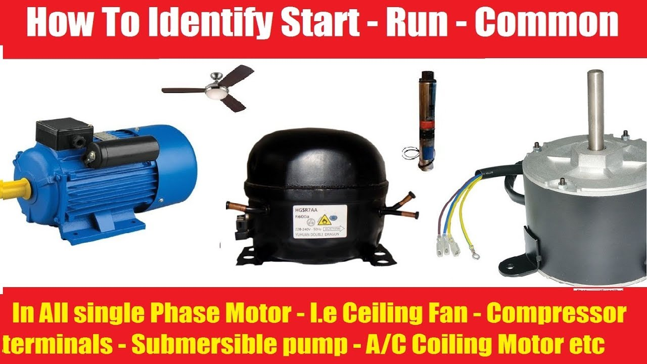 How To Identify Start And Run Common In Single Phase Motor Youtube Starter For Submersible Pump