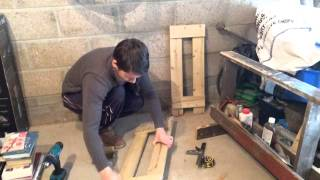 Pallet Wood Project. Build A Log Storage Unit.