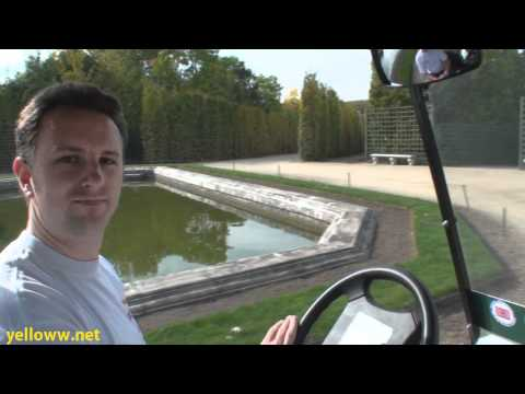 Touring the Gardens of Versaille by Electric Golf Cart