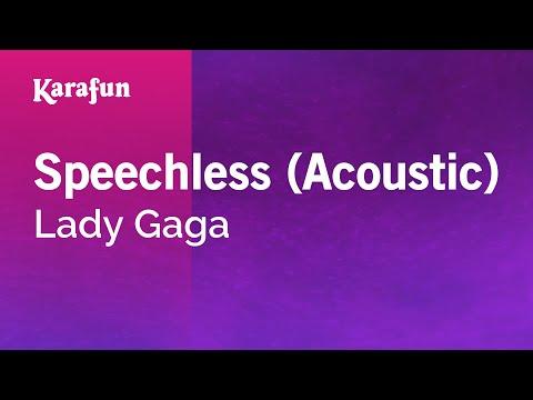 Karaoke Speechless (Acoustic) - Lady Gaga *