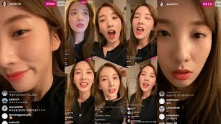 김지숙 레인보우 지숙 JiSook 's 191009 Instagram Live 01 With Chat Fit…